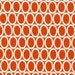 Ovals from Remix by Ann Kelle and Robert Kaufman, Ovals in Orange 1/2 yd total