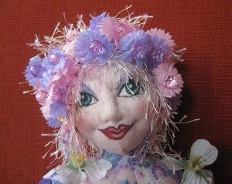 OOAK Soft Sculpture Art Doll - Celie
