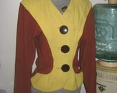 1940s Hollywood High Style two tone ladies jacket Must see