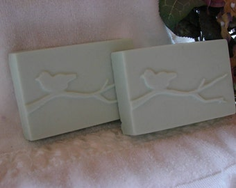 Clover and Aloe Bird on a Branch Soaps