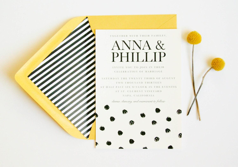 Relatively Follow my passion: Polka Dot Wedding Invitation // Wedding  TP64