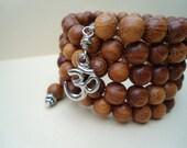 Prayer Beads  Mala Beads 108 bead mala Wrap Bracelet  Aum Om Yoga Jewelry Yoga Bracelet Meditation Jewelry