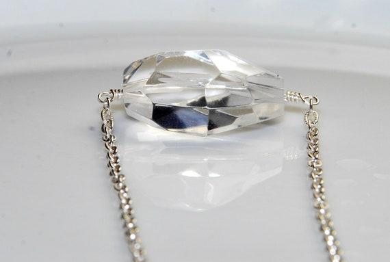 Custom Order for Erin Only -Crystal Quartz Necklace- Sterling Silver