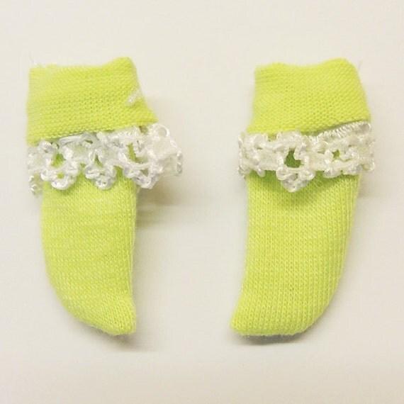 Tiny BJD Green Lace Socks for BJD Dolls Lati Yellow, PukiFee, Riley Kish, Tulah Kish, Bobobie Nissa, Lati Yellow SP, Blythe, Dollk