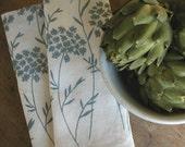 SALE Dish Towels , Organic Linen Tea Towels ,  Set of Two Seconds ,  Sale ,  Queen Anne's Lace Kitchen Towels