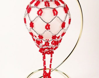 Hot Air Balloon Ornament  No. 5, Beading Tutorial in PDF