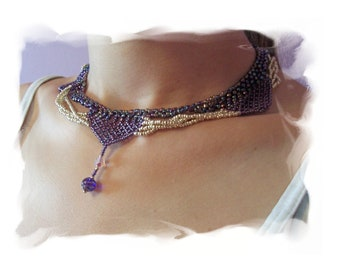 Let's Dance Necklace Pattern, Beading Tutorial in PDF