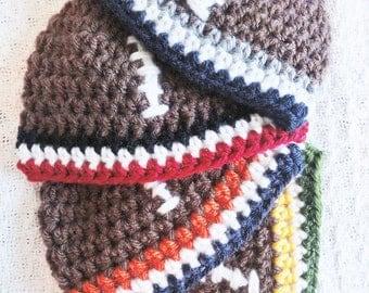 Football Hat Hand-crocheted Baby Beanie Custom Team Colors By Distinctly Daisy