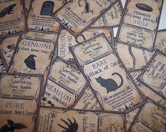 Halloween Potion Labels Set of 35