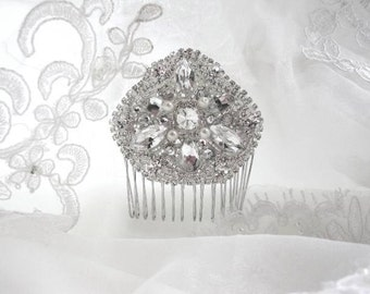 Wedding Vintage Inspired Bridal Crystal Side Hair Comb