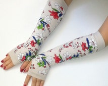 Sale gloves Fingerless long  gloves  with pattern