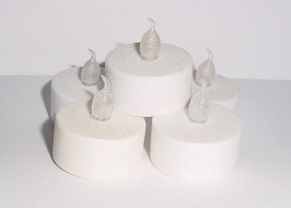 20 Handmade Glitter LED Flameless Tealight Candles