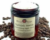 Sugar Scrub - Turkish Mocha Coffee Emulsifying Sugar Scrub Body Polish by WickedSoaps