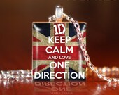 Keep Calm - One Direction -G- Scrabble Tile Pendant- One Direction Necklace