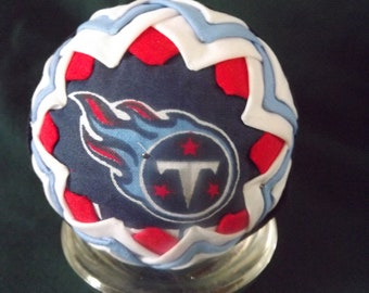 Quilted Sugar Plum Ornament Tennessee Titans . . . FREE SHIPPING!