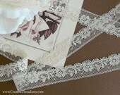 SPECIAL LISTING for RACHEL - 7 1/2 Yards  (6 1/2 Yards + 1 Yard)  Fine French Heirloom Lace - No. 252 - Ecru - 5/8""