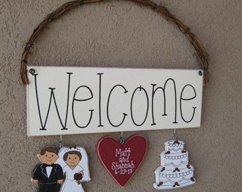 Monthly WELCOME SIGN (Wedding or Anniversary) for wall and home decor