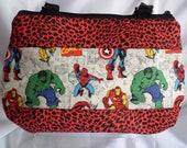 Marvel Zip top Shoulder bag/tote size Medium-Large