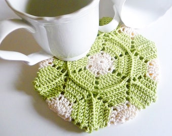 Color Block Hexagon Crochet Potholder PDF Pattern