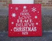 CHRISTMAS Tree Sign,Christmas Decor,Typography, Hand Painted Wood, Holidays,Wood Sign, Home Decor, Christmas Deco