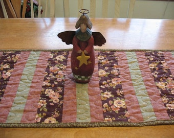 Quilted Table Runner in Earthtone Shades