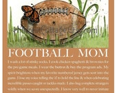 Football Mom Art Mom Football Art Football Mom Poster Mom Football Poster Football Mom and Son