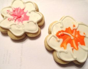 Custom listing: Hawaiian Flower Cookies (1 dozen)