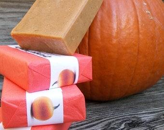 Pumpkin Soap with Goat's Milk, Vanilla, Cinnamon & Clove Essential Oils plus Pumpkin Puree