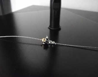 Wish Bracelet - Friendship Bracelet - Charm Bracelet - Silver Flower Bracelet - Minimalist Jewelry #2-012