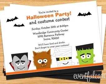 Halloween Party Invitation - Printable