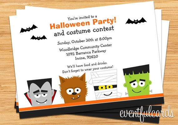 Halloween Party Invitation Printable by EventfulCards – Costume Party Invitations Free Printable