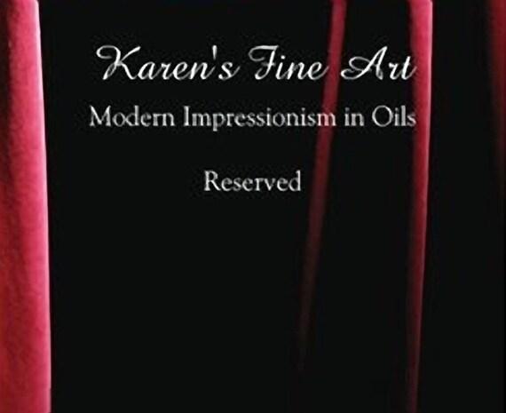 Reserved for MB only - final payment - Lion painting Original Oil impasto palette knife modern fine art by Karen Tarlton