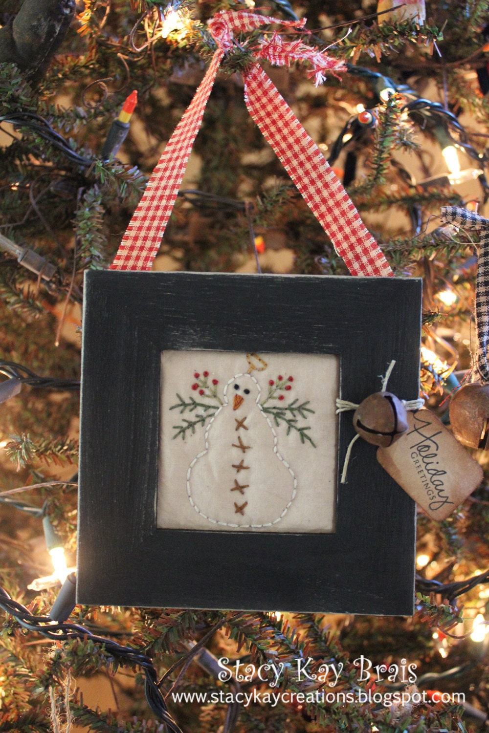 Snowman Picture Frame Craft
