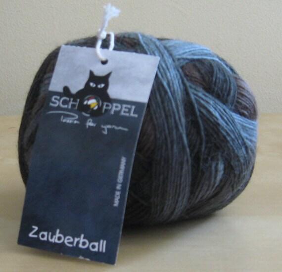 Sock Yarn - Brown, Blue - Schoppel Wolle Zauberball - Wurzelsepp