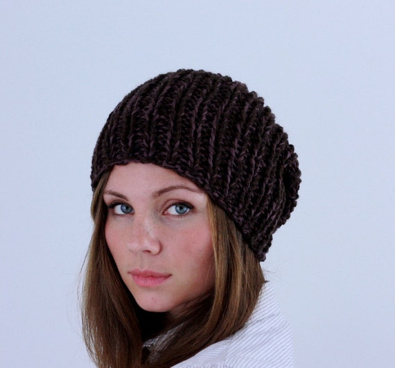 SALE Hand Knit Hat Mens Hat Brown Mix Autumn Fashion Fall Fashion