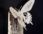 Personalize Butterfly Place Cards - Favors - Bookmarks