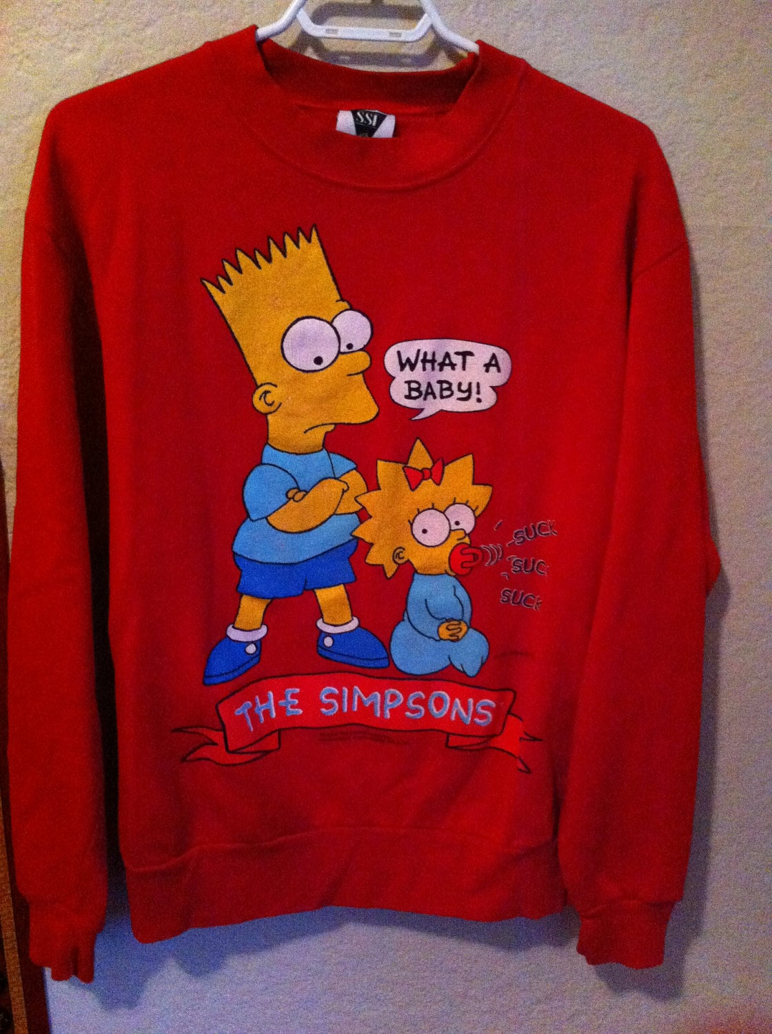 Vintage 1990s Simpsons Bart Simpson Sweatshirt By Boobooretro