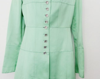SALE Vintage Lagerfeld minty green satin suit