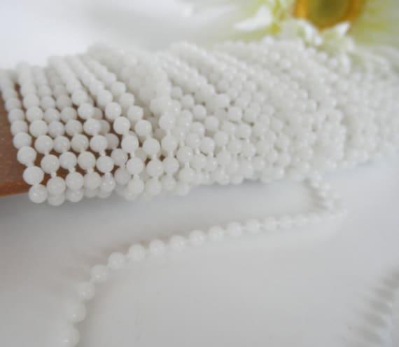 White String Beading