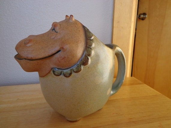 Vintage Hippopotamus Pitcher Made by UCTCI