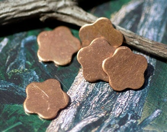 Copper 20g 10.5mm Flower Tiny Shape 5 Petal for Enameling Stamping Texturing Soldering Blanks