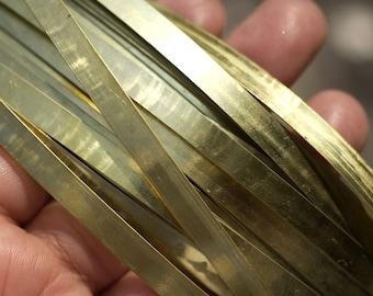 Brass Bezel Wire - Handmade - 5.5mm wide - 28g - 3 feet length
