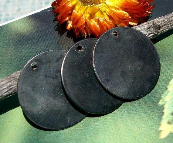 Gunmetal Disc 25mm Stamping Dangle Polished Blanks Shape Jewelry Making