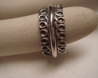 Vintage  1960's  sterling silver ring three pieces togheter