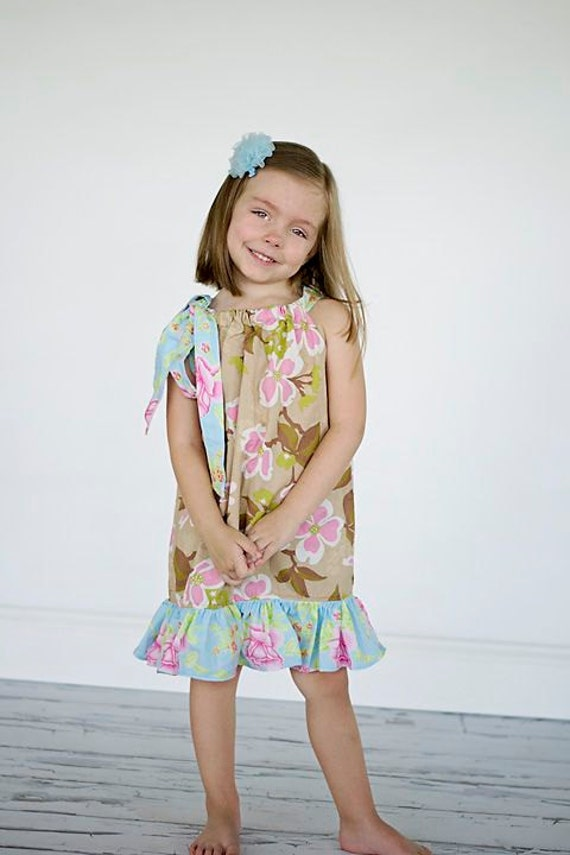 Pillowcase Dress Pattern, Ruffle Dress Sewing Pattern, Pillowcase Dress, Girls Dress Pattern, Easy Dress Pattern, Girls and Dolls, 6m-10