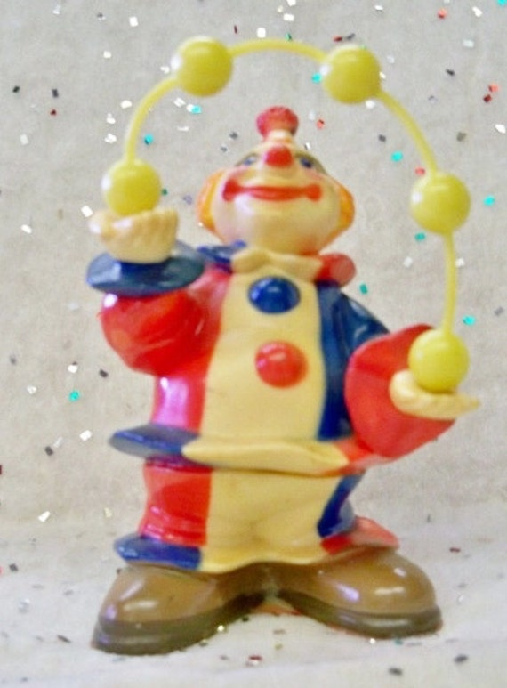 Juggling Clown - Wilton Cake Topper - 1977 - Cake Or Cupcake Party Decoration - Child's Room Decoration - Mint