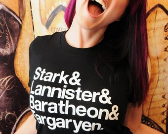 Stark...Ampersand shirt.  American Apparel fitted tshirt in small, medium, large, or extra large.