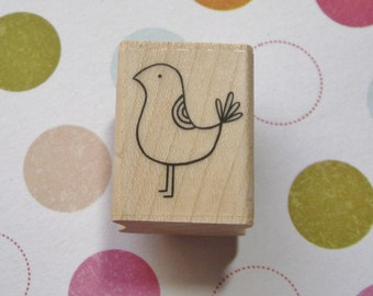 Groovy Partridge, Bird - A Muse Rubber Stamp