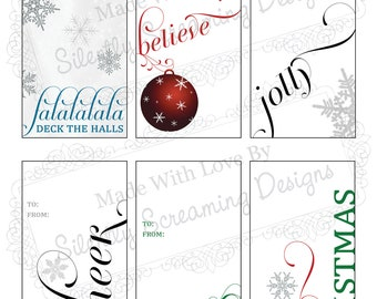 Christmas / Holiday Tags Printable - Instant Download