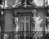 Paris window Paris architecture photograph black and white